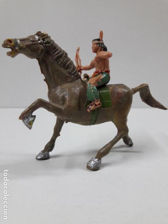 Figuras de Goma y PVC: PLUMITA A CABALLO . REALIZADO POR ESTEREOPLAST . AÑOS 60 - Foto 2 - 132508594