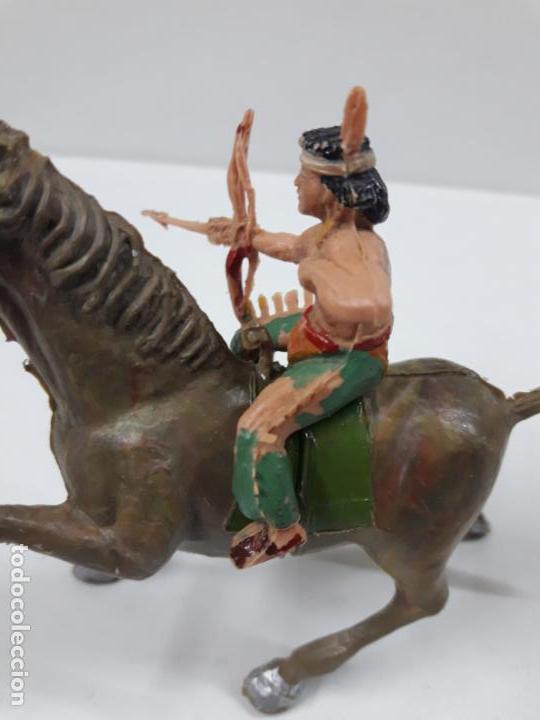 Figuras de Goma y PVC: PLUMITA A CABALLO . REALIZADO POR ESTEREOPLAST . AÑOS 60 - Foto 3 - 132508594