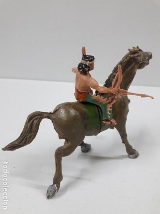 Figuras de Goma y PVC: PLUMITA A CABALLO . REALIZADO POR ESTEREOPLAST . AÑOS 60 - Foto 4 - 132508594