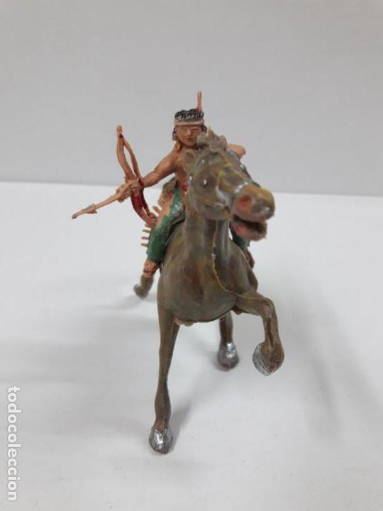 Figuras de Goma y PVC: PLUMITA A CABALLO . REALIZADO POR ESTEREOPLAST . AÑOS 60 - Foto 5 - 132508594