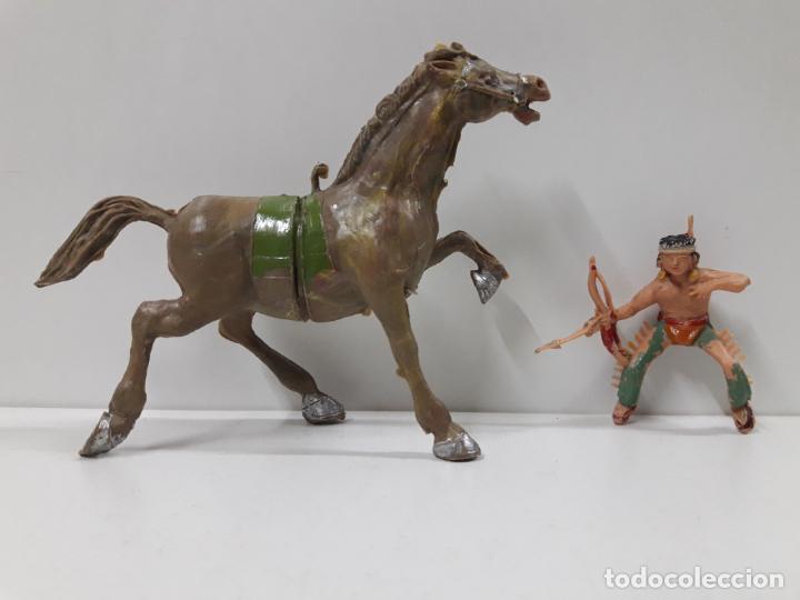 Figuras de Goma y PVC: PLUMITA A CABALLO . REALIZADO POR ESTEREOPLAST . AÑOS 60 - Foto 7 - 132508594
