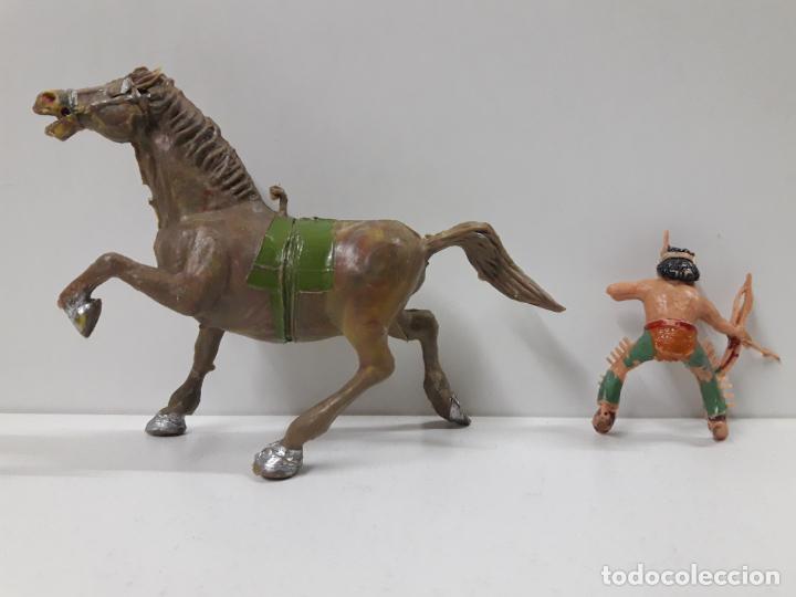 Figuras de Goma y PVC: PLUMITA A CABALLO . REALIZADO POR ESTEREOPLAST . AÑOS 60 - Foto 8 - 132508594