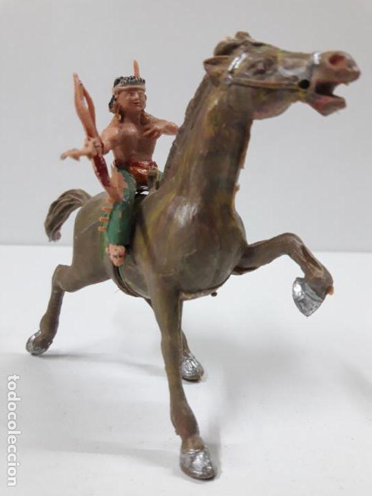 Figuras de Goma y PVC: PLUMITA A CABALLO . REALIZADO POR ESTEREOPLAST . AÑOS 60 - Foto 9 - 132508594