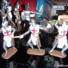 Figuras de Goma y PVC: CRUZADOS Y CABALLEREO MEDIEVAL U.S.A. 1/24 8 CM SSMD U.S.A.. Lote 132529810