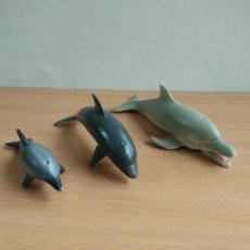 Figuras de Goma y PVC: LOTE DE 3 DELFINES EN PVC. Lote 132694686