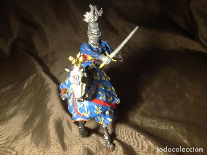 Figuras de Goma y PVC: Caballero Medieval Azul Justas Plastoy - Foto 2 - 132723206