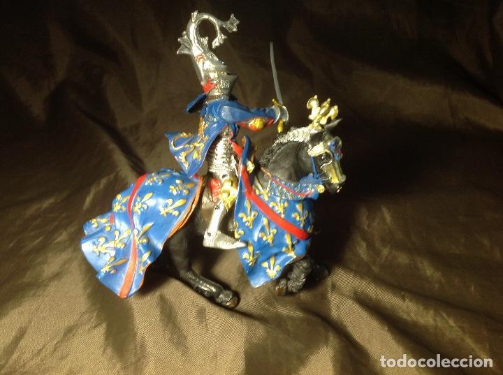 Figuras de Goma y PVC: Caballero Medieval Azul Justas Plastoy - Foto 3 - 132723206