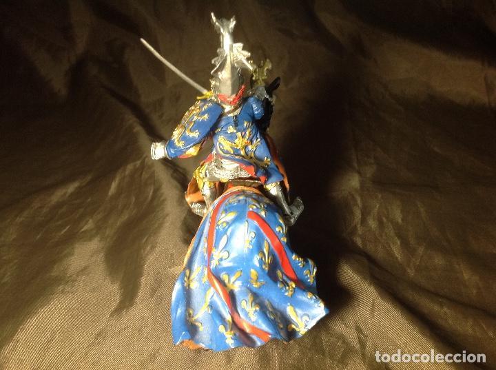 Figuras de Goma y PVC: Caballero Medieval Azul Justas Plastoy - Foto 5 - 132723206