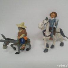 Figuras de Goma y PVC: SERIE ANIMADA DON QUIJOTE - DON QUIJOTE Y SANCHO, ROCINANTE Y RUCIO - PVC - COMICS SPAIN. Lote 132735662