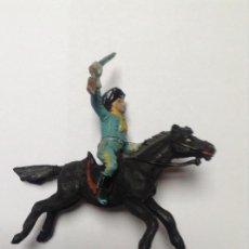 Figuras de Goma y PVC: FEDERAL A CABALLO DE COMANSI CON CABALLO DE JECSAN. Lote 132767218