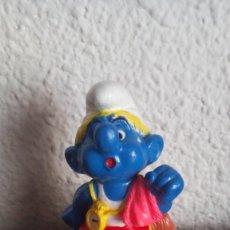 Figuras de Goma y PVC: MUÑECO FIGURA PVC PITUFO PEYO EXCLUSIVO BIP HOLANDA1998. Lote 132805018