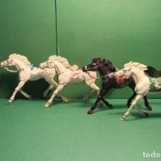 Figuras de Goma y PVC: LOTE DE 4 UDS. DE CABALLOS GRANDES DE LAFREDO. Lote 132810666