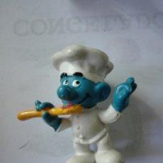 Figuras de Goma y PVC: PITUFOS ORIGINALES SCHLEICH FIGURA GOMA. COCINERO. Lote 132817061