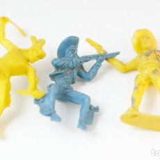 Figuras de Goma y PVC: LOTE INDIOS VAQUEROS LAFREDO. Lote 132819030