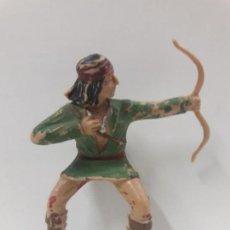 Figuras de Goma y PVC: GUERRERO INDIO PARA CABALLO . REALIZADO POR REAMSA . SERIE APACHES . ORIGINAL AÑOS 60. Lote 132929470