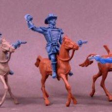 Figuras de Goma y PVC: 5 FIGURAS FEDERALES Y VAQUEROS A CABALLO COMANSI PLÁSTICO SIN PINTAR AÑOS 80. Lote 133021242
