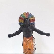 Figuras de Goma y PVC: GUERRERO AFRICANO KAKUANA . REALIZADO POR PECH . AÑOS 50 EN GOMA. Lote 133027462