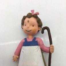 Figuras de Goma y PVC: FIGURITA UNA DE LAS TRES MELLIZAS - DE PVC O GOMA DURA - CROMOSOMA 99 - YOLANDA. Lote 133063606