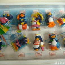 Figuras de Goma y PVC: ESTUCHE EL LOCO MUNDO DE LOS PINGUI PLAYA PINTADOS A MANO (#). Lote 133165346