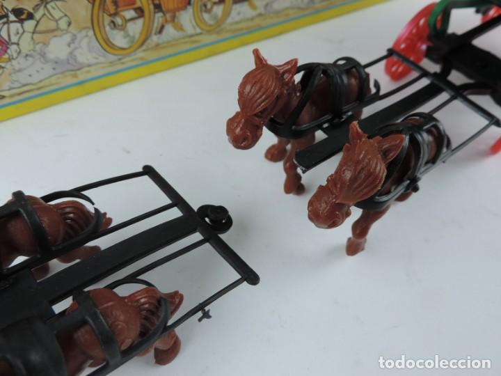 Figuras de Goma y PVC: DILIGENCIA LUCKY LUKE, REALIZADA POR COMANSI. NUEVA Y EN SU CAJA. DIFICIL MODELO CON CABALLOS Y COND - Foto 2 - 133188722