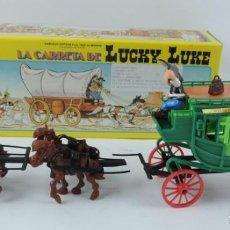 Figuras de Goma y PVC: DILIGENCIA LUCKY LUKE, REALIZADA POR COMANSI. NUEVA Y EN SU CAJA. DIFICIL MODELO CON CABALLOS Y COND. Lote 133189098