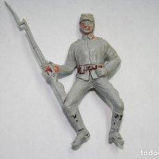 Figuras de Goma y PVC: JECSAN FIGURA SOLDADO CONFEDERADO SUDISTA OESTE WESTERN. Lote 133338842