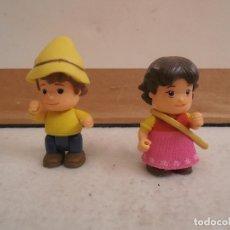 Figuras de Goma y PVC: FIGURAS DE PVC - HEIDI Y PEDRO - ESTUDIO 100. Lote 133352318
