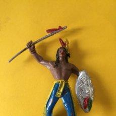 Figuras de Goma y PVC: FIGURA OESTE INDIO DE COMANSI 1ª SERIE _LEY285. Lote 133557846