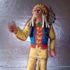 Figuras de Goma y PVC: COMANSI-JEFE INDIO-GRAN TAMAÑO-18CM. Lote 133564414