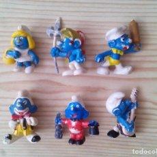 Figuras de Goma y PVC Schleich: 6 FIGURAS PITUFOS SCHLEICH - LOTE 1. Lote 133715930