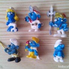 Figuras de Goma y PVC Schleich: 6 FIGURAS PITUFOS SCHLEICH - LOTE 2. Lote 133715998