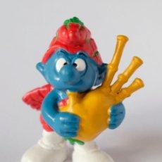 Figuras de Goma y PVC Schleich: PITUFO GAITERO. PEYO. BULLY. W. GERMANY. Lote 133717346