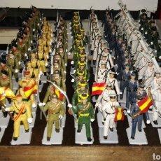 Figuras de Goma y PVC: IMPRESIONANTE BATALLÓN DE SOLDADOS DE GOMA SOLDIS EJÉRCITO ESPAÑOL , GUARDIA CIVIL, REGULARES ETC... Lote 133792914