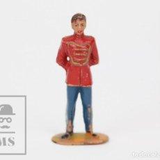 Figuras de Goma y PVC: FIGURA DE PLÁSTICO DE JECSAN - MOZO DE PISTA, DE CIRCO - ALTURA 6,5 CM. Lote 133796174