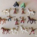 Figuras de Goma y PVC: LOTE 13 FIGURAS MINI COMANSI OESTE - INDIOS CABALLOS. Lote 133807734