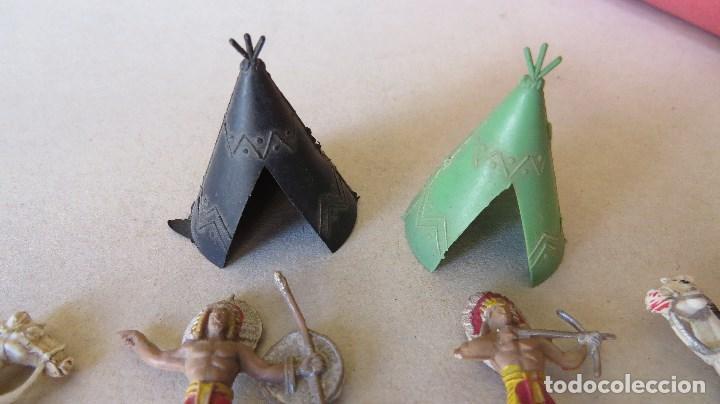 Figuras de Goma y PVC: LOTE 13 FIGURAS MINI COMANSI OESTE - INDIOS CABALLOS - Foto 2 - 133807734