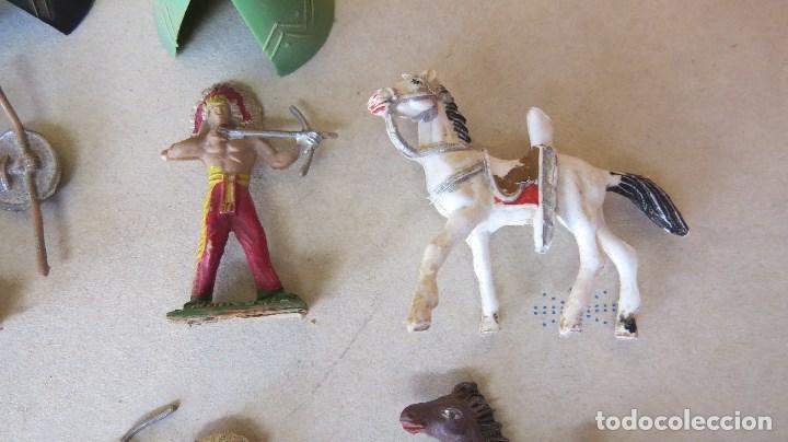 Figuras de Goma y PVC: LOTE 13 FIGURAS MINI COMANSI OESTE - INDIOS CABALLOS - Foto 4 - 133807734