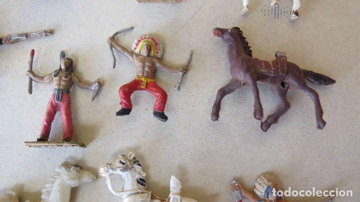 Figuras de Goma y PVC: LOTE 13 FIGURAS MINI COMANSI OESTE - INDIOS CABALLOS - Foto 6 - 133807734