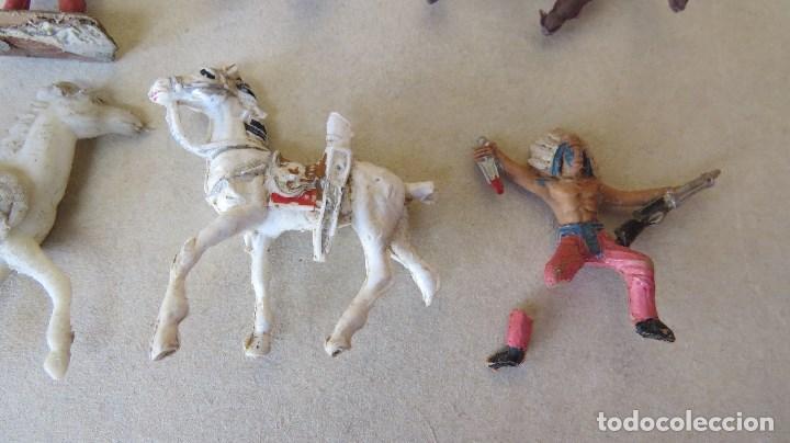Figuras de Goma y PVC: LOTE 13 FIGURAS MINI COMANSI OESTE - INDIOS CABALLOS - Foto 9 - 133807734