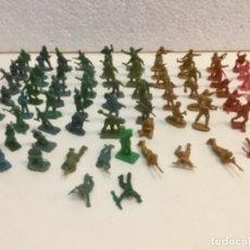 Figuras de Goma y PVC: LOTE 28. SOLDADOS DEL EJÉRCITO 80 UNIDADES. MONTAPLEX.. Lote 133912270