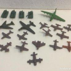 Figuras de Goma y PVC: LOTE 29. AVIONES COMBATE Y TANQUES. MONTAPLEX. AÑOS 60. Lote 133947846