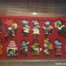 Figuras Kinder: 14 FIGURAS HAPPY HIPPO HOCHZEIT 1999 COMPLETA + BPZ + BOX . Lote 133950686