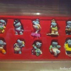 Figuras Kinder: 10 FIGURAS HAPPY HIPPO TALENT SHOW 2009 COMPLETA + BPZ + BOX. Lote 133951254