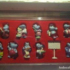 Figuras Kinder: 11 FIGURAS HAPPY HIPPO COMPANY 1994 COMPLETA + BPZ + BOX + 5 VARIANTES. Lote 133952046
