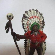 Figuras de Goma y PVC: FIGURA DE GOMA - FIGURA GUERRERO, INDIO - JECSAN ORIGINAL - AÑOS 60-70. Lote 133956714