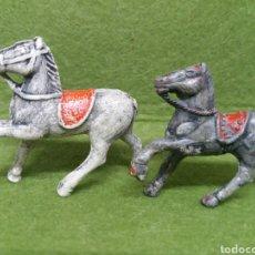 Figuras de Goma y PVC: ANTIGUAS FIGURAS DE CABALLOS EN GOMA. SERIE 40-45 MM. LAFREDO Y/O ALCA-CAPELL.. Lote 133974210