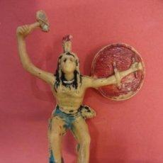 Figuras de Goma y PVC: REAMSA. INDIO EN PLÁSTICO. SERIE INDIOS COMANCHE. (1956). 65 MM.. Lote 133989722