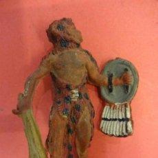 Figuras de Goma y PVC: PECH HNOS. GUERRERO AZTECA EN GOMA. SERIE AZTECAS (1955). 60 MM.. Lote 133991110