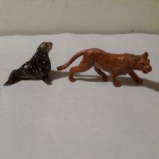 Figuras de Goma y PVC: PECH FIGURAS LEON MARINO ,MORSA,FOCA Y LEONA EN GOMA. Lote 134040674