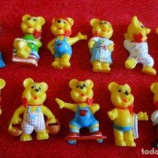 Figuras Kinder: KINDER HARIBO 11 FIGURAS PVC OSO OSITO EXCELENTES AÑOS 90. Lote 134093178